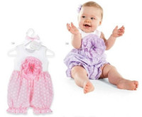 Wholesale Doomagic Purple Baby Onesies Rromper Girl Rompers Baby Infant Clothes