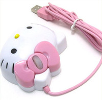 Wholesale New Hello Kitty Optical dpi USB Mouse For Laptop PC