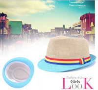 Wholesale 2012 spring and summer Ladies Bell shaped hat Straw Jazz Cap Korean Style Knitted Hat