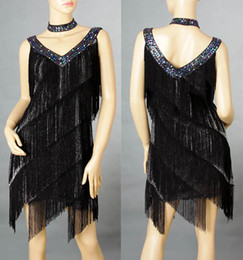 Wholesale Ladies Cocktail amp Club Latin Dance Party Asymmetric Fringe V Neck galaxy Dress