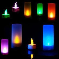 Wholesale pics LED Romantic Candle Color changed Lamp Voice Activated As Christmas X Mass