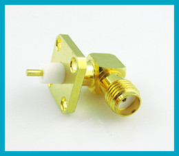 Wholesale SMA female Jack right angle hole panel mount with solder Post terminal connector