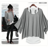 Wholesale 2012 NEW ARRIVAL Korean fashion summer women cotton short Sleeve loose T shirt vest tops