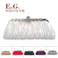 Wholesale EllaGo New Ladies fold diamond evening party hand bag wedding party bridal hand bags
