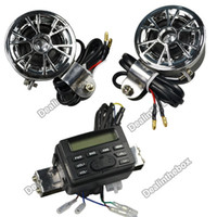 Wholesale New V Motorcycle ATV FM Radio and Waterproof Speaker Set with MP3 CD Input Cable Adeal