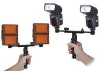 Canon Sony Nikon Dual Flash Light Led light Bracket Mount Support Stand Holder