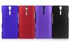 Rubber Hard Back Case For Sony Ericsson Xperia S LT26i 10PCS LOT 50pcs lot