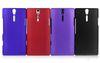Rubber Hard Back Case For Sony Ericsson Xperia S LT26i 10PCS LOT 50pcs lot