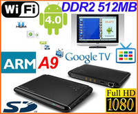Wholesale Google TV Box Android ARM Cortex A9 WiFi HD P HDMI Internet DDR II M GB D Flash s