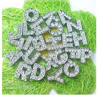 Wholesale mm A Z rhinestone Slide letters Charm Accessories
