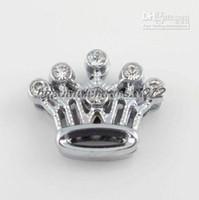 Wholesale mm Rhinestones crown Slide Charm Accessories