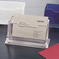 Wholesale Crystal Plastic Business Card Holder Name Cards Case Display Stands Gift For Men