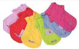 2017 dog s 6 colors cotton Pet t shirt Dog Clothes Apparel dog T Shirt XS S M L cheap dog s