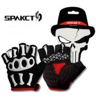 Wholesale NEW BMX Cycling Bike Bicycle Skull half finger gloves SIZE L XL