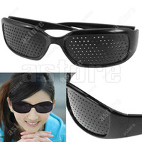 Wholesale 10 Pair Eyes Exercise Eyesight Vision Improve Pinhole Glasses sunglasses Natural Healing