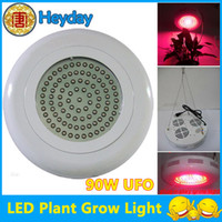 Wholesale LED Grow Lights LED W UFO Triband Red Blue Orange Hydroponic Plant Lamp grow Light
