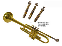 Wholesale The HTR C C Trumpet three tone trumpet Bach trumpet cupronickel tuning pipe Monel piston