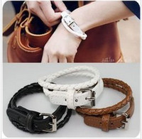 Wholesale New Style Fashion Belt Buckle Style Unisex Leather Bracelet For Women Men
