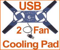 Aluminum & Plastic mini usb notebook fan - Hot sales Mini Folding USB Fan Laptop Notebook Cooler Cooling Pad