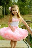 pettiskirt set - 5sets pink flower top skirt set baby Dress pettiskirt tutu Dress Girls Tutu Skirt