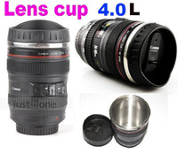 Wholesale Newest L Canon coffee cup EF mm Lens cup stainless steel camera lens mug ice cream cup p