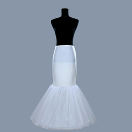 Livraison gratuite Mermaid Petticoat / glisser 1 Hoop os élastique robe de mariée Crinoline Trumpet avoir en stock Petticoat Crinoline White Hot vente