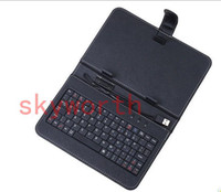 With Keyboard 7'' 7'' Universal Keyboard Leather Case for 7 inch Android 4.4 Allwinner A13 Q88 A33 Google Nexus 7 Galaxy tab 3 4 S Tablet PC MID Stand