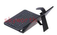 7'' ainol keyboard case - USB Keyboard Leather case for inch Android Allwinner Ainol Novo A33 A13 Q88 Samsung galaxy tab S Tablet PC Stand