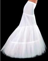 Wholesale New White hoops mermaid wedding dress petticoat crinoline Mermaid Trumpet Hot Sale mermaid train Fashion Hot sale Have in stock