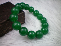 Wholesale CHINESE Emerald Green Beads JADE Flat insider and outside Bangle Bracelet mm