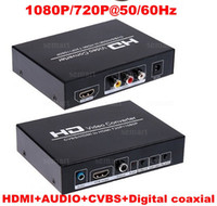 Wholesale P P Hz HD Video Converter CVBS input mm audio Digital coaxial