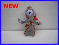 Wholesale 50pcs New arrival London Olympic mascot quot Stuffed Plush Toys Keychain hanged adorn souvenirs