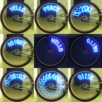 Wheel Lights bicycle wheel spokes - 14 LED electric Bike Bicycle Wheel Spoke Light Blue Lights Patterns bike decoration parts H1841