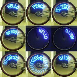 Wholesale 14 LED electric Bike Bicycle Wheel Spoke Light Blue Lights Patterns bike decoration parts H1841