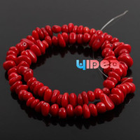 red coral beads necklace - 205pcs Red Corallite Beads Coral Charms Beads Fit Bracelets Necklaces DIY Have in Stock