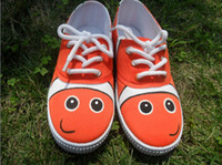 Wholesale Nemo inspired HandPainted Clown Fish shoes for toddlers gift for baby shoes on sale