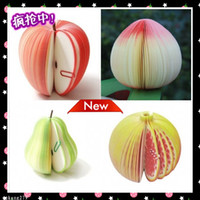Wholesale Paper Style Beatiful Notes Note Memo Scrap Paper Fruits Apples A variety of styles optional