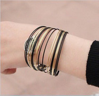 Wholesale Top selling items different style promotional Jewelry Bangle bracelet wrist fashion watch