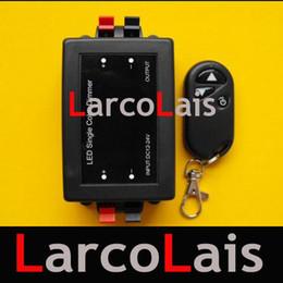 Adjustable Wireless Remote Light LED Dimmer Brightness Controller DC 12V 24V On off Button Black