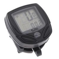 bicycle meter - Black Wireless LCD display Computer Cycle Bicycle Bike Meter Speedometer Odometer H8006