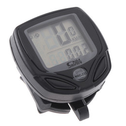 Wholesale Black Wireless LCD display Computer Cycle Bicycle Bike Meter Speedometer Odometer H8006