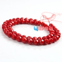 Wholesale 110 Red Coral Round Facet Corallite Charms Beads mm Fit Bracelets Necklaces Have in Stock