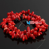 Wholesale 200pcs Fashion Red Coral Corallite Charms Beads Fit Bracelets Necklaces Have in Stock