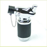 Wholesale Giant Torch Cigarette Lighter with Punch Silver