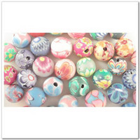 Wholesale 100 Mixed Color Fimo Polymer Clay Round Beads mm