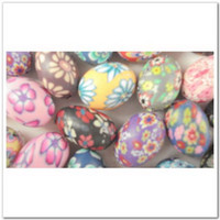 Wholesale 50 Mixed Color Fimo Polymer Clay Oval Beads x12mm