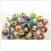Wholesale 50 Mixed Color Chinese Cloisonne Round Beads mm