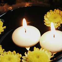 Wholesale Ivory Tealight Floating Candle Flameless Wedding Birthday Party Favor Home Decor Cheap