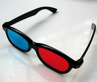 Wholesale 3D Red amp Blue Cyan Anaglyph GLASSES For TV Movie DVD for Adult Men Women