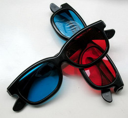 Wholesale 3D Red Blue Cyan Anaglyph GLASSES For TV Movie DVD for Adult Men Women